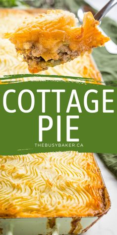 This Easy Homemade Cottage Pie is a classic comfort food recipe featuring juicy beef and veggies in a savoury gravy, and topped with crispy mashed potatoes! Easy to make and the perfect family meal! Recipe from thebusybaker.ca! #shepherdspie #cottagepie #british #comfortfood #dinner #mealidea #easydinner #easymeal #familymeal via @busybakerblog