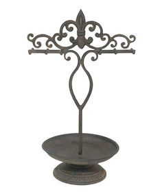 Antique Fleur-de-Lis Jewelry Holder by Three Hands Corporation