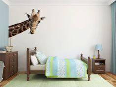 Giraffe Wall Decal Kids Wall Graphic Bedroom Playroom Nursery Wall Sticker