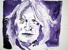 Blatt 1 -  Mein Sinnbild von  Alice Schwarzer - Tusche auf Bütten - 30 x 40 cm (c) Zeichnung von Susanne Haun