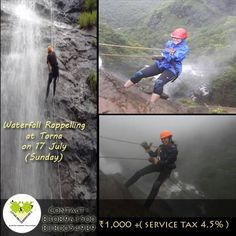 Adventure are not just for fun, but to realize What life is made for...Experience such activity called as Waterfall Rappelling on 17 July.