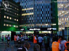 Fachada do portão A na Rua Turiassú, estádio Allianz Parque