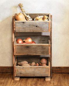 Potato Bin / Vegetable Bin Barn Wood Rustic by GrindstoneDesign