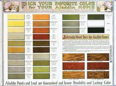 Examples Of Paint Colors Offered In 1916 Our Master Bedroom Was Added Onto The House Craftsman Style Interiorscraftsman