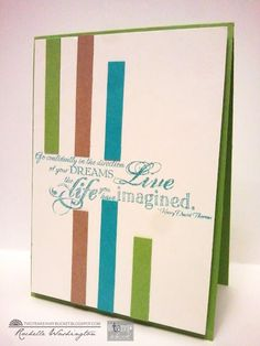 This card shows Rochell's style all the way: Clean lines and beautiful colors!