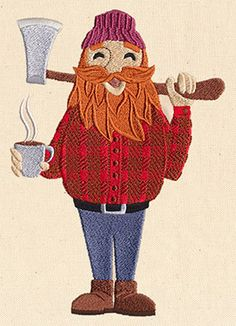Lovable Lumberjack | Urban Threads: Unique and Awesome Embroidery Designs