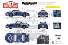 [FFSMC Productions] Decals 1/8 Alpine A110 1600SC Michèle Mouton, MC '76 | eBay