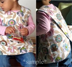 Cute pinafore! Great and easy way to dress up a onsie!