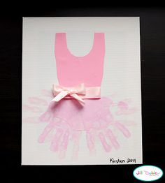 Hand print art projects , adorable for little girls room if you are having one or have had one!!