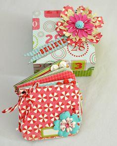 Mini Album with matching Origami Box Christmas by SoScrappyHappy, $9.00
