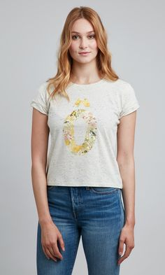 Tee shirt femme imprimé floral