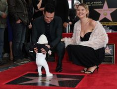 Adam Levine and Behati Prinsloo's Daughter Makes Her First-Ever Public Appearance—See the Cute Pics - Modern Hollywood Walk Of Fame, In Hollywood, Hollywood California, Dusty Rose Levine, Adam Levine Tattoos, Adam Levine Behati Prinsloo, Adam And Behati, Colin O'donoghue, Family Affair
