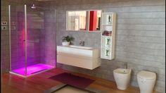 box doccia in cristallo con soffione cromoterapia e diffusore aromaterapia NOBILI