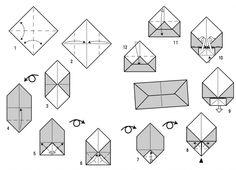 pliage d 39 une lettre enveloppe origami envelopes and snail mail. Black Bedroom Furniture Sets. Home Design Ideas
