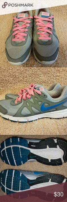 Nike shoes Nike running shoes, been worn like twice in pretty good shape. Nike Shoes Athletic Shoes