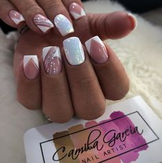 Best Nail Art Designs, Acrylic Nail Designs, Acrylic Nails, Glitter Nails, Fun Nails, Pretty Nails, Peach Nails, Semi Permanente, Neutral Nails