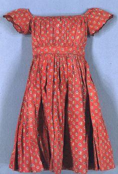 Child's dress , 1864–65 Medium: Printed cotton Technique: Printed plain weave