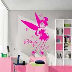 Disney Fairy tales Personalizd Name Vinyl, wall art, mural, stickers, Decals
