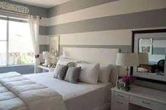 Resultado de imagen para paredes a rayas beige dormitorio