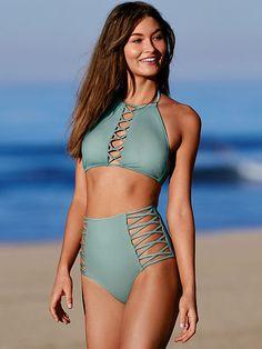 High Waist Bikini in Succulent Green | VS