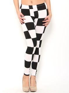 Checkered Leggings. Adore -♡