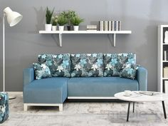 DESIGNERSKI ROZKŁADANY NAROŻNIK DO POKOJU SKANDYNAWIA, M3KRAJ - Meble - sklep meble.pl Couch, Furniture, Home Decor, Settee, Decoration Home, Sofa, Room Decor, Home Furnishings, Sofas