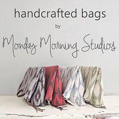 Browse unique items from MondayMorningStudios on Etsy, a global marketplace of handmade, vintage and creative goods. Canvas Handbags, Tote Handbags, Purses And Handbags, Swatch, Vintage Stil, Maker, Buffalo Plaid, Hobo Bag, Messenger Bag