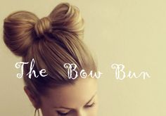 Art the bow bun hairstyles Cool Hairstyles For Girls, Bun Hairstyles, Pretty Hairstyles, Fashion Hairstyles, Simple Hairstyles, Hairstyle Ideas, Wedding Hairstyles, Hair Bow Bun, Bow Buns