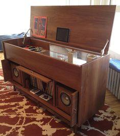 Jeremy Pickett's gorgeous MORKT SAMFUNN console / audio cabinet