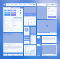 Snow UI Kit #uı #elements #kit #psd #freebies