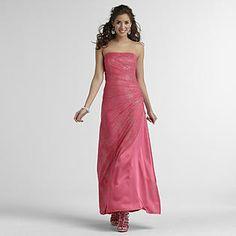 Jump Apparel- -Junior's Strapless Prom Dress