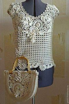 Letras e Artes da Lalá: Blusas de crochê (pinterest)