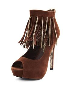 On the Fringe Sueded Pump: Charlotte Russe