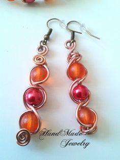 Pendientes de Perlas de cristal y alambre por HmShop en Etsy, £4.00
