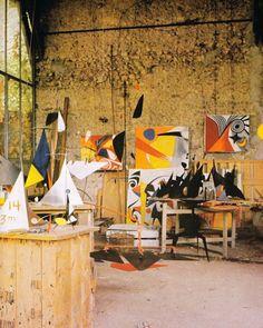Alexander Calder's home studio