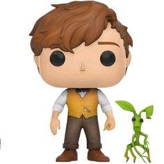 Funko Pop Fantastic Beasts: Newt Scamander and Pickett Collectible Figure, Multicolor - Bast Figures