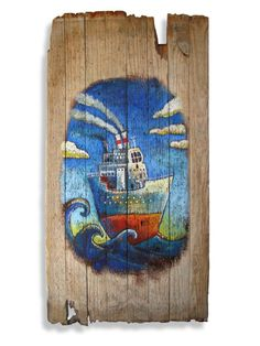 Ship in a big sea – a new nautical and old world theme. <carnegie@mweb.co.za> Big Sea, African Design, Recycled Wood, Naive, Cape Town, Old World, Nautical, Identity, Unique Gifts