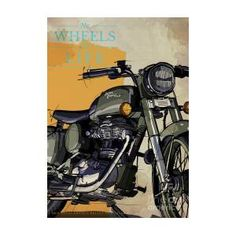 2012 Royal Enfield Bullet Military Original Art,motorcycle Quote,no Wheels No Life by Drawspots Illustrations Enfield Bike, Enfield Motorcycle, Harley Davidson, Royal Enfield Bullet, Motorcycle Quotes, Original Art, Military, The Originals, Gull