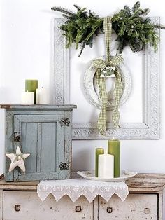 I keep looking for ornate frames I can incorporate in my Christmas decor