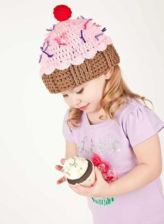 Crochet Cupcake Hat with Sprinkles by TheAppleandTree on Etsy