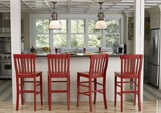 Liking the red bar stools
