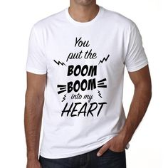 #love #valentines #day #gift #tshirt #men Best Valentine's gift for your boyfriend! Order now, online --> https://www.teeshirtee.com/collections/mens-valentines-day/products/you-put-the-boom-boom-into-my-heart-mens-short-sleeve-rounded-neck-t-shirt