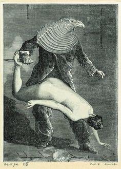 Max Ernst, Collage tiré de Une semaine de bonté, Oedipe 25, 1933