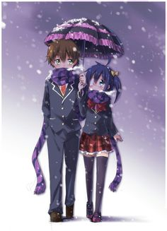"Chuunibyou ~~ I don't really get ""awwwwed"" by a lot of romance things, but Chuunibyou is just adorable."