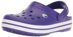 Crocs Kids Crocband Clog (Toddler/Little Kid) (Ultraviolet/White) Kids Shoes Crocs Crocband, Crocs Shoes, Footwear Shoes, Toddler Crocs, Clogs Outfit, Street Style 2017, Strap Heels, Partner, Ultra Violet