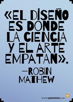 Una cita de Robin Mathew, que es un diseñador indio según cuenta él mismo aquí, compuesta en Barrio, diseñada por Sergio Jiménez y Pablo Cosgaya.