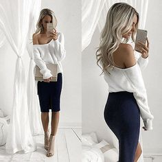 cotton blend off the shoulder fashion top
