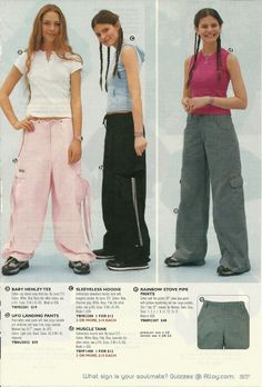 Oh man -- scans from an old Alloy catalogue. Be still my high school fashionista heart!