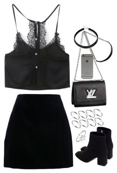 """""""Untitled #1726"""" by breannaflorence on Polyvore featuring Carven, Zara, ChloBo, ASOS and Louis Vuitton"""