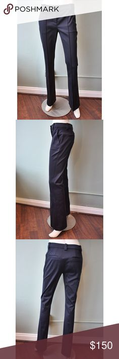 ALC Joseph Pants Trousers Navy Blue Size 0 This tailored pant by ALC features a zip fly with button closure, center seams, welt pockets and a slim flare silhouette. A.L.C. Pants Boot Cut & Flare